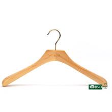 Épaules larges, élégant manteau en bois