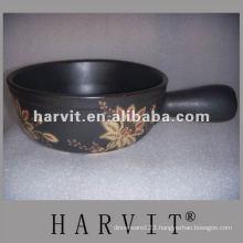 heatproof non-stick embossed cooking pot