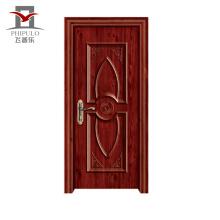 Puerta de entrada de madera de acero del nuevo diseño profesional del precio bajo