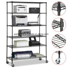 Atacado 6 Camadas Metal Wire Showroom prateleira Rack com alta qualidade
