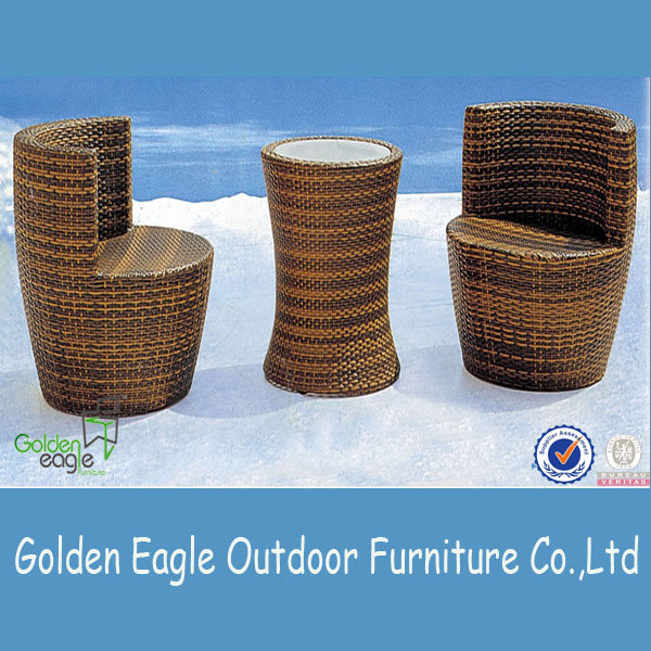 Elegant Patio Garden Wicker Bar Furniture