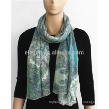 Soft Floral Printed Acrylic Scarf
