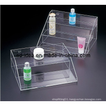 Acrylic Pop Display, Retail /Merchandising Cosmetic Counter Display with Printing