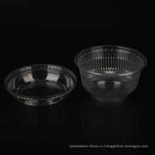 пластиковая миска 650мл салатница с крышками
