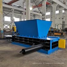 Máquina de reciclagem de prensa de enfardamento de latas de metal tipo funil