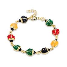 Gold-Frauen-Charme-Armband-Tierform-hängendes Armband