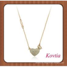 NEW fashion letter love best friend heart necklace crown necklace