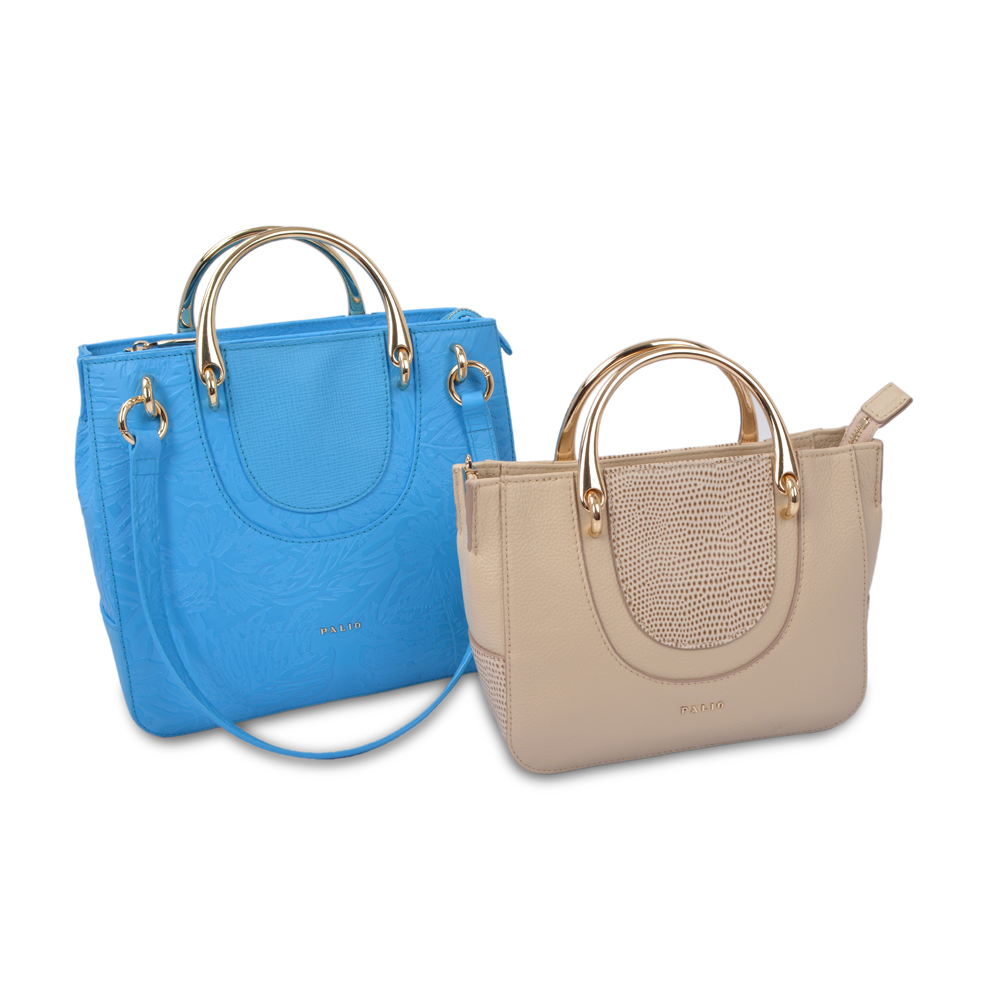 tote bag Real genuine leather Ring handle bag for women