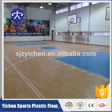 Plancher de sport de basket-ball d'intérieur de conception d'érable