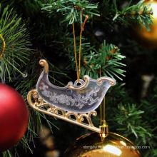 Glitter en plastique Décorations de Noël pourpre et argent