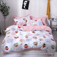 Capa de edredão de poliéster impresso conjunto de roupa de cama