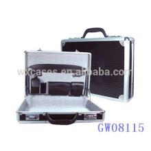 cartera de hombres de negro aluminio fuerte y portátil de alta calidad de China fábrica