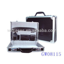 black strong&portable aluminum men briefcase from China factory high quality