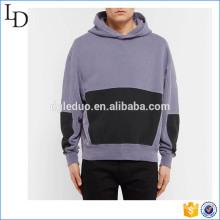 Overdyed venda direta da fábrica dois tons hoodies atacado design baggy para homens