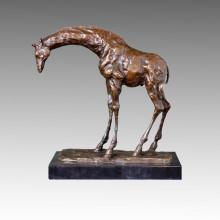Tier Statue Hirsch / Giraffe Bronze Skulptur, Milo Tpal-171