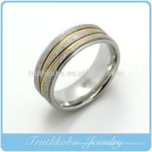 TKB-R0022 Moda anillo de joyería de imitación de acero inoxidable Nuevos modelos de anillo de oro para hombres
