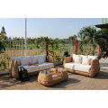 Top Selling Natural Water Hyacinth Sofa Set Indoor Furniture for Living Room