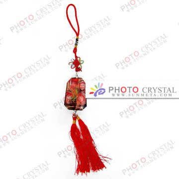 Porte-clés en cristal / verre de cristal / cadeau / occasion / bloc de cristal / promotion / publicité / vacances