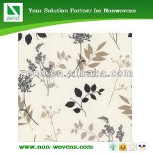 Zend rose print fleece fabric