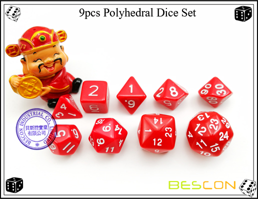 9pcs Polyhedral Dice Set-17