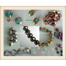 Plated Glass Bead for Silver or Gold or Ab
