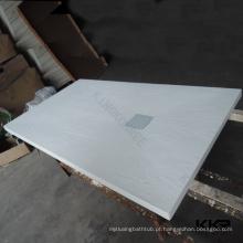 Bandeja de chuveiro de pedra de resina branca, bandeja de chuveiro de pedra antiderrapante
