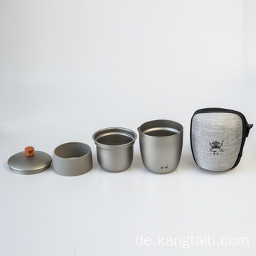 Single Pure Titanium Tea Cup