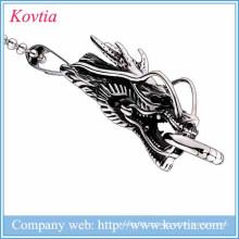 Novos produtos 2015 dragão pingente de aço inoxidável jóias de titânio colar de aço