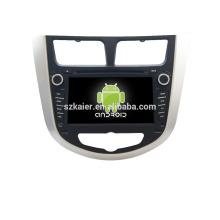Quad-Core! Auto-DVD mit Spiegellink / DVR / TPMS / OBD2 für 7-Zoll-Touchscreen-Quad-Core 4.4 Android-System Hyundai Verna / Solaris