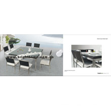 Stainless Steel Wicker Outdoor Dining Set Bp-321
