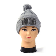 Hot Selling Beanie Hat with POM and Braid