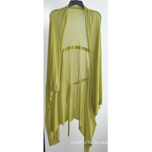 100% algodón de manga larga para mujer Opean punto de chaqueta