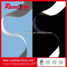 0,8 mm PU reflektierende Leder material