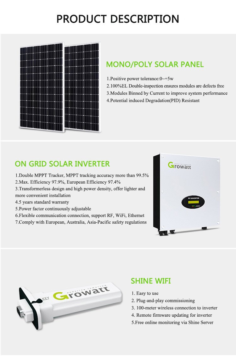 5KW Grid Tied Solar Energy System