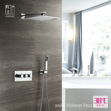 HIDEEP Two Function Thermostatic Brass Shower Faucet Set
