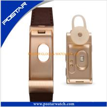 Reloj elegante del estilo del cuero genuino de la venda de Leatherl del nuevo estilo para las mujeres de los hombres Diseño de Huawei