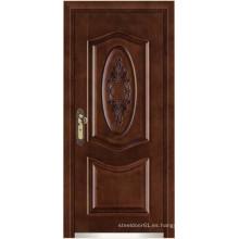 puertas de acero acabado en madera blindada puerta/armado puertas de madera