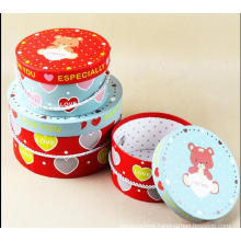 Popular Round Gift Box with Handle / Round Nesting Hat Boxes