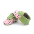 Lederen Fancy Babyschoenen Patroon Mocassins