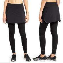 All Black Ladies Calças de Fitness com Vestido