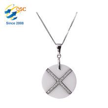 Mode différents types de chaîne argent collier collier de conceptions simples