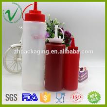 Different size cylinder food grade empty ketchup plastic dropper bottles wholesale