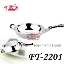 Stainless Steel Single Hanger Frying Pan (FT-2201)
