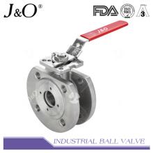 Válvula de esfera de tipo wafer com almofada de montagem direta DIN Pn16 / Pn40