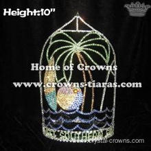 10in Height Plam Tree Summer Crowns With Beach Ball
