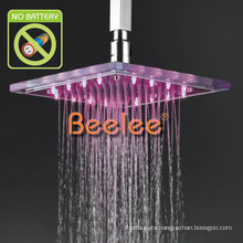 23*23cm Hydropowered LED Rainfall Glass Overhead Shower (Qh320f)