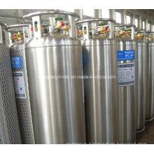 DOT Standard 175L Vertical Welded Insulated Dewar Flask Cryogenic Lox Lin Lar Lco2 Gas Cylinder