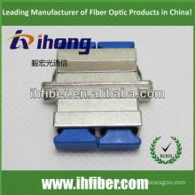 SC duplex singlemode fiber optic metal adapter