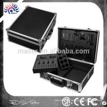 Fábrica fabricante profissional tatuagem máquina caso / alumínio maquiagem caso vazio / mala de cosméticos de alumínio