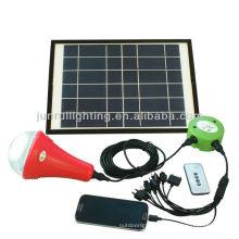 Portable conduziu sistema home solar para iluminação e carregamento